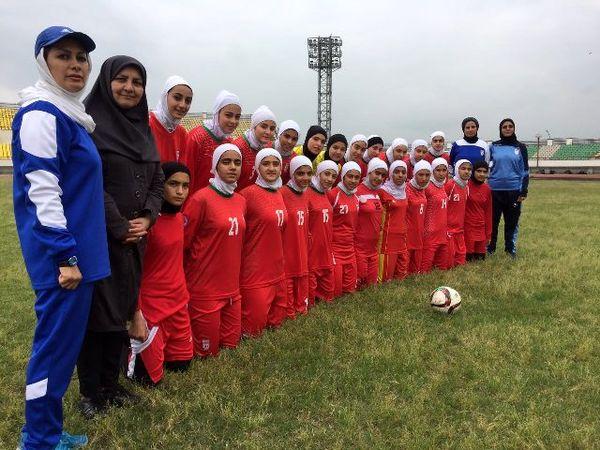 مراسم بدرقه تیم ملی دختران زیر ۱۶ سال ایران برگزار شد