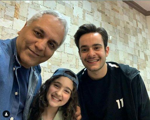 سلفی مهران مدیری با دو بازیگر سریال هیولا
