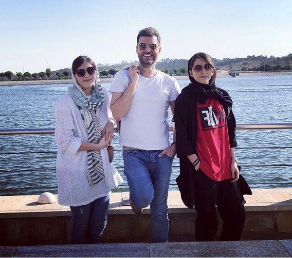 باربد بابایی و دخترانش + عکس