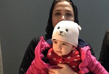 عکس خاله سارا با نهال کوچولویش