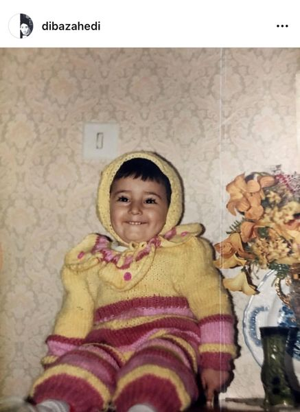 دیبا زاهدی در کودکی + عکس
