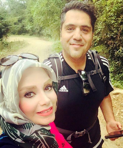 کوهنوردی صبا راد و همسرش در شمال کشور+عکس