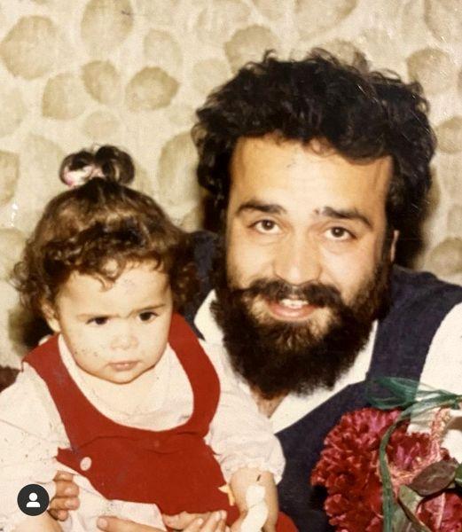 کودکی ملیکا شریفی نیا با پدرش + عکس