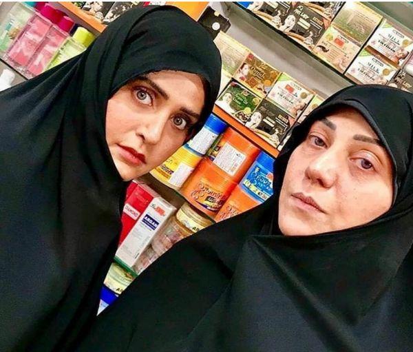 الناز شاکردوست و شبنم مقدمی با حجابی متفاوت+عکس