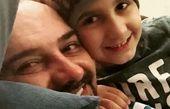 سلفی برزو ارجمند با پسرش + عکس