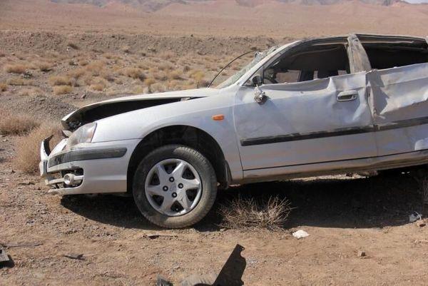 واژگونی خودرو اتباع خارجی درمیبد ۱۲زخمی برجا گذاشت