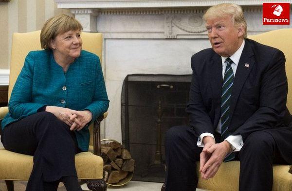توضیح کاخ سفید درباره دست ندادن ترامپ با مرکل