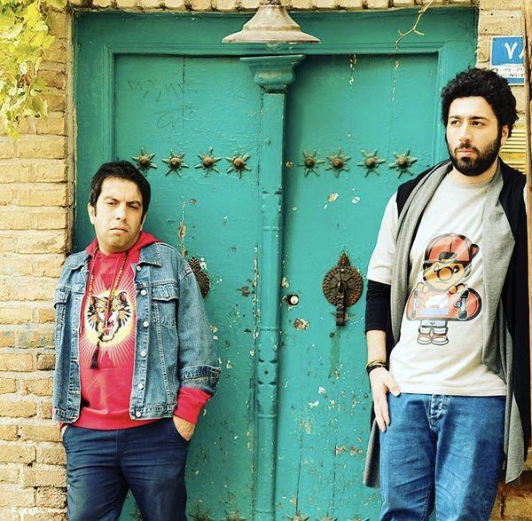 بازیگران آخر خط در کنار خانه شان + عکس