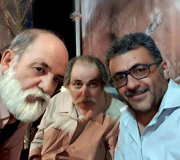 شهرام عبدلی در کنار دوستان بازیگرش + عکس
