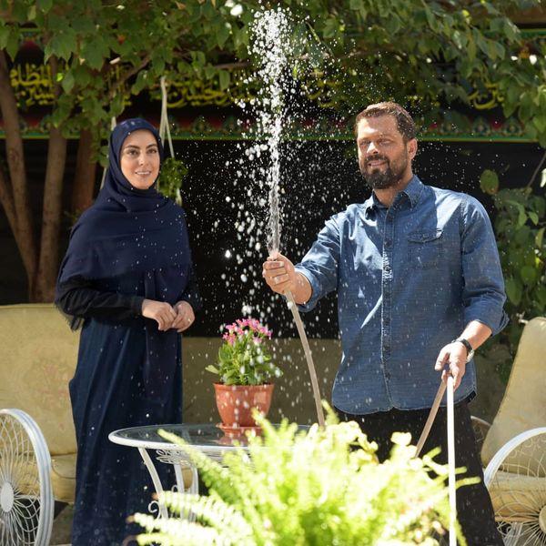 پژمان بازغی و نیلوفر شهیدی در کار جدید محرمی+عکس