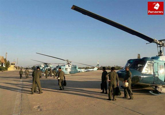 بالگردها و یگان عملیات ویژه نداجا آماده اعزام به مناطق زلزله زده غرب کشور