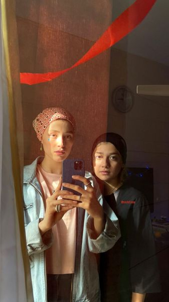 فرشته حسینی و خواهر کوچکش + عکس