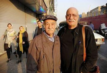 کشمکش هوشنگ گلمکانی و آقای بازیگر معروف وسط خیابان+عکس