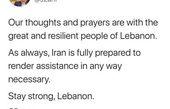 واکنش ظریف به انفجار بیروت