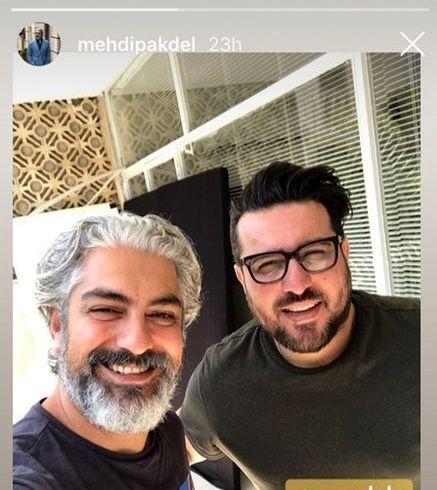 سلفی محسن کیایی با مرد خوشتیپ سینمای ایران + عکس