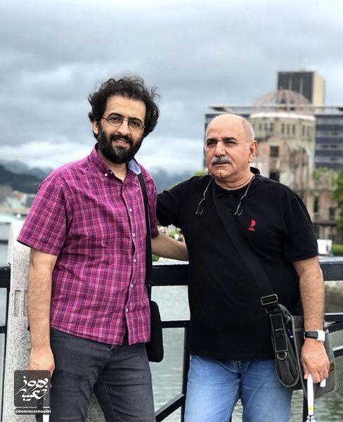 بهروز شعیبی در کنار بازیگر مشهور + عکس