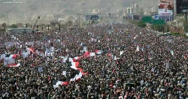 تظاهرات گسترده یمنیها در حمایت از فلسطین