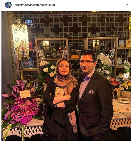 شیلا خداداد و همسرش در جشن رونمایی از کتابش+عکس