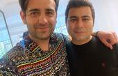 امیرحسین آرمان در آغوش دوستش + عکس