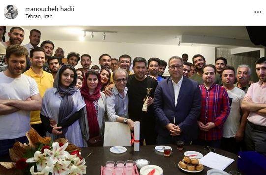 """جشن جایزه حامد بهداد در پشت صحنه فیلم """"دل"""""""