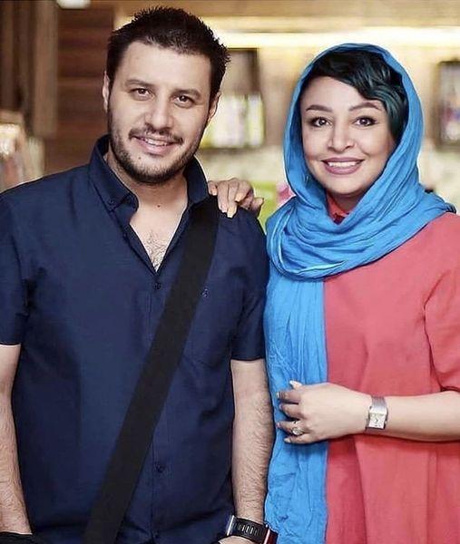 جواد عزتی و همسرش + عکس