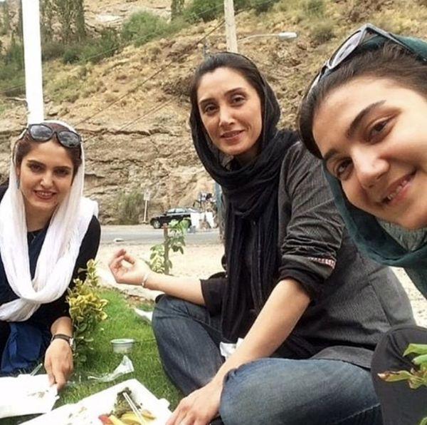پیکنیک رفتن هدیه تهرانی با دوستانش + عکس