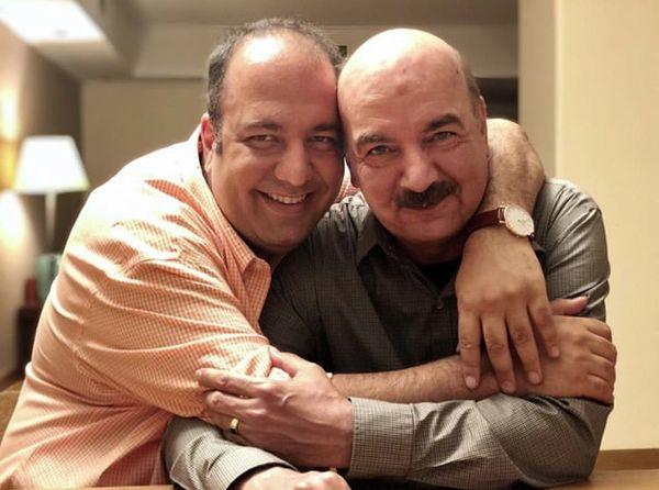 علی اوجی در آغوش آقای مجری دهه شصتی ها + عکس