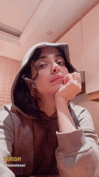 سلفی جدید الهه حصاری در خانه اش + عکس