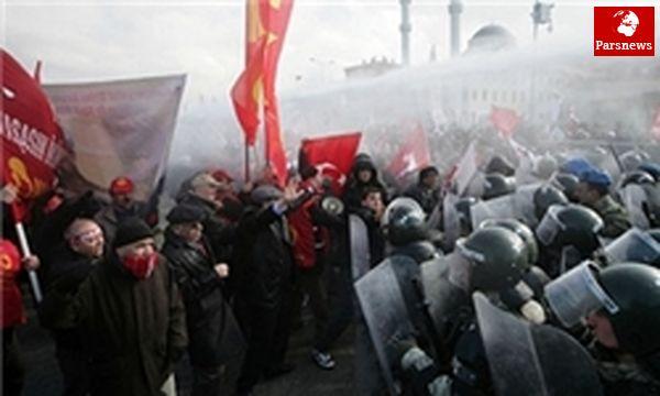 تظاهرات علیه پیمان ناتو در استانبول