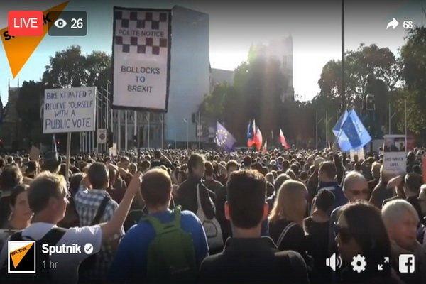 تظاهرات هزاران نفری علیه «برگزیت» در لندن