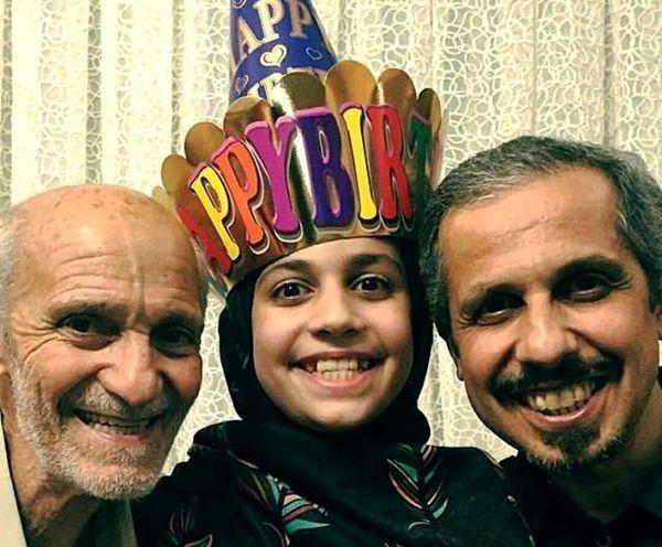 شباهت بامزه جواد رضویان و دخترش+عکس