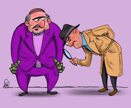 کاریکاتور شفاف سازی اقتصادی توسط دولت