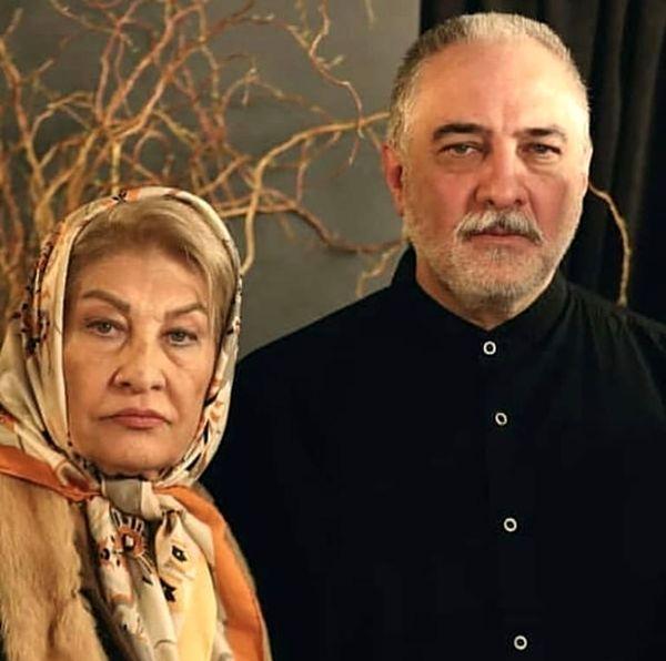 ایرج نوذری در کنار مادرش + عکس