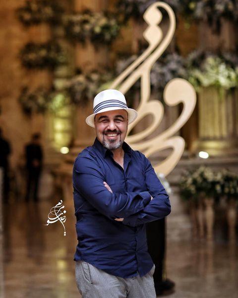 رضا عطاران شاد و خوشحال در یک مراسم + عکس