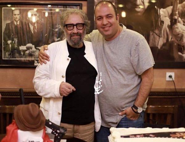 علی اوجی در کنار مسعود کیمیایی + عکس