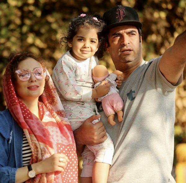 خانواده سه نفره شاد کارگردان مشهور + عکس