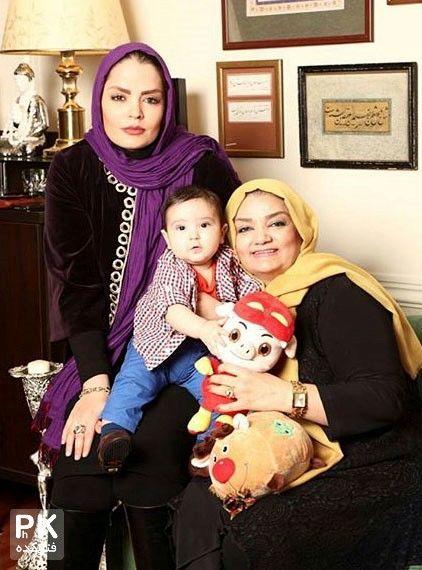سپیده خداوردی در کنار پسر و مادرش + عکس