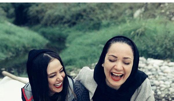 خنده های از نه دل الناز حبیبی و بازیگر پایتخت + عکس