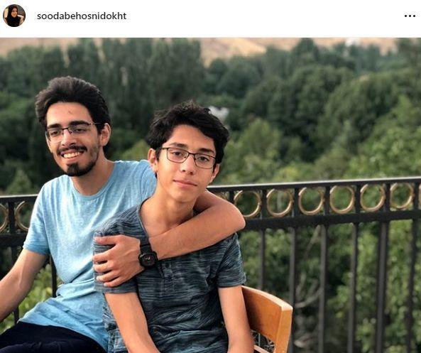 پسران خوش قد و قامت خانم اخبارگو + عکس