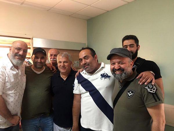 آقایون بازیگر در کنار سلطان فوتبال ایران + عکس