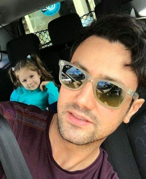 گردش شاهرخ استخری و دخترش با ماشین شخصی شان+عکس