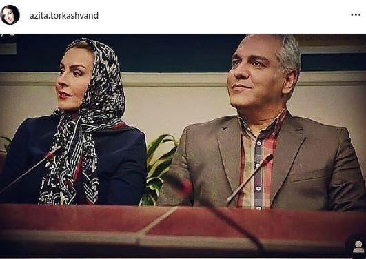 مهران مدیری و خانم بازیگر مشهور در یک مراسم + عکس