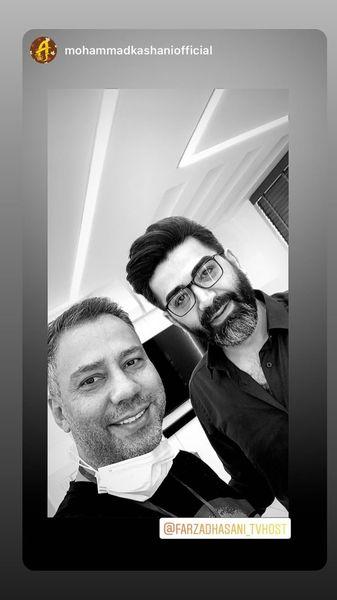 سلفی فرزاد حسنی با دوستش + عکس