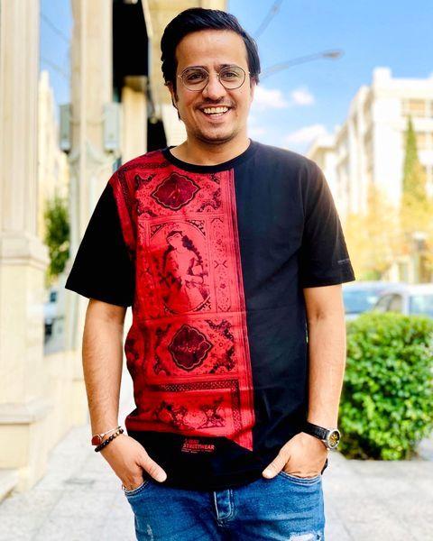 تی شرت سنتی طور حسین سلیمانی + عکس