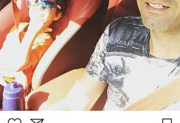 جواد نکونام و پسرش در ماشین شیکشان+عکس