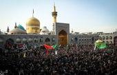 حضور خیل عظیم عزاداران در مشهد مقدس