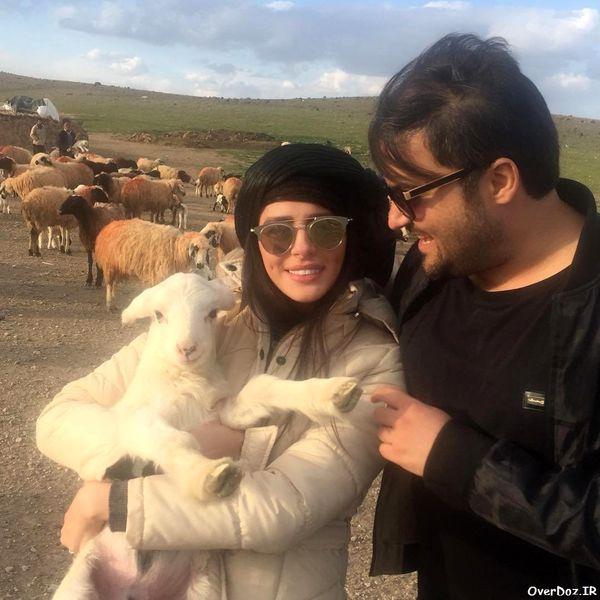 گردش مهدی سلوکی  و همسرش با ببعی ها!+عکس