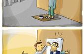 کاریکاتور اجتماعی با موضوع مبارزه با فقر