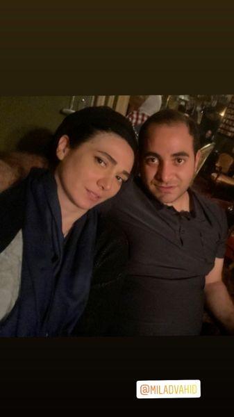 مینا وحید در کنار برادرش + عکس