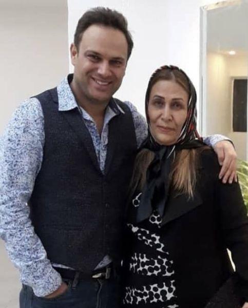شهروز ابراهیمی و مادرش + عکس